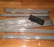 Billiga aluminium-strumpstickor 25 cm.