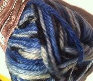 Kinna Textils Raggströmpegarn enfärgat och print